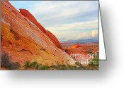 Surreal Landscape Greeting Cards - Valley of Fire - A pristine beauty Greeting Card by Christine Till - CT-Graphics
