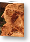 Geologic Formations Greeting Cards - Valley of Fire - Nevadas Crown Jewel Greeting Card by Christine Till