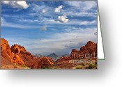 Red Greeting Cards - Valley of Fire Nevada - A must-see for desert lovers Greeting Card by Christine Till - CT-Graphics