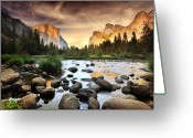 Tranquil Scene Greeting Cards - Valley Of Gods Greeting Card by John B. Mueller Photography