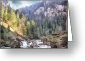 Jeff Kolker Greeting Cards - Valley of Light and Shadow Greeting Card by Jeff Kolker