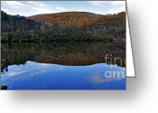 Reflections In Water Greeting Cards - Valley of Peace Greeting Card by Kaye Menner
