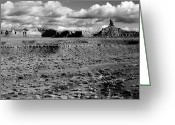 Black Mesa Greeting Cards - Valley of the Gods San Juan County Utah Greeting Card by Troy Montemayor