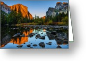 Cathedral Greeting Cards - Valley View Yosemite National Park Greeting Card by Scott McGuire