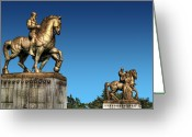Arlington Memorial Bridge Greeting Cards - Valor and Sacrifice Greeting Card by Don Lovett