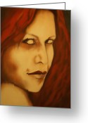 Goddess Posters Greeting Cards - Vampire Greeting Card by Roger Williamson