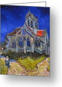 Turn Of The Century Greeting Cards - Van Gogh: Auvers, 1890 Greeting Card by Granger