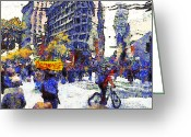 Recession Greeting Cards - Van Gogh Occupies San Francisco . 7D9733 Greeting Card by Wingsdomain Art and Photography