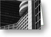 Light And Dark  Greeting Cards - Vancouver Architecture Greeting Card by Chris Dutton