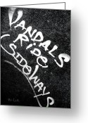 Boxcar Greeting Cards - Vandals Ride Sideways Greeting Card by Bob Orsillo