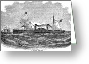 Vanderbilt Greeting Cards - Vanderbilt: Steam Yacht Greeting Card by Granger