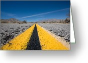 Desert Greeting Cards - Vanishing Point Greeting Card by Peter Tellone