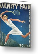 Player Photo Greeting Cards - Vanity Fair, 1932 Greeting Card by Granger