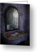 Rural Decay Prints Greeting Cards - Vanity Greeting Card by Larysa Luciw