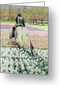 Contemplative Painting Greeting Cards - Vanquished Greeting Card by George Hitchcock
