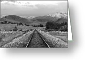 Railroad Track Greeting Cards - Vantage Point Greeting Card by Karon Melillo DeVega
