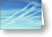 Vapor Greeting Cards - Vapor Trails Greeting Card by Richard Newstead