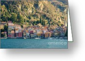 Tight Greeting Cards - Varenna village Greeting Card by Mats Silvan