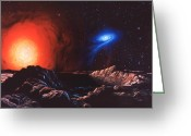 Accretion Discs Greeting Cards - Variable Star Greeting Card by Chris Butler