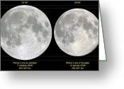 Diameter Greeting Cards - Variation In Apparent Lunar Diameter Greeting Card by Laurent Laveder