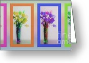 Reception Room Greeting Cards - Variety Tetraptych Greeting Card by Cheryl Young