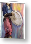 Drum Greeting Cards - Varius Coloribus Steve O Klat Greeting Card by Yuriy  Shevchuk