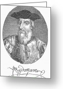 Autograph Greeting Cards - VASCO da GAMA (1469?-1524) Greeting Card by Granger