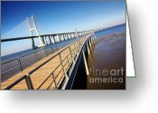 Da Greeting Cards - Vasco da Gama Bridge Greeting Card by Carlos Caetano