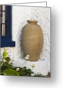 Custom Culture Greeting Cards - Vase Greeting Card by Juan  Silva