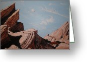  Parks Drawings Greeting Cards - Vasquez Rocks 6 Greeting Card by Stephen Ponting