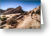 Reno Gregory Greeting Cards - Vasquez Rocks Greeting Card by Reno Gregory