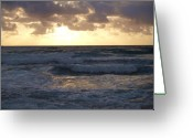 Surf Silhouette Greeting Cards - Vast Sea Greeting Card by E Luiza Picciano