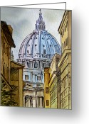 Vatican City Greeting Cards - Vatican City Greeting Card by Irina Sztukowski