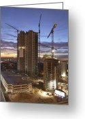 Crane Greeting Cards - Vegas Expansion Greeting Card by Mike McGlothlen