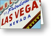 Neon Art Greeting Cards - Vegas Tribute Greeting Card by Slade Roberts
