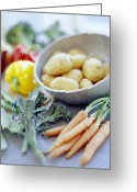 Broad-bean Greeting Cards - Vegetables Greeting Card by David Munns
