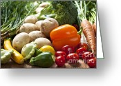 Growing Greeting Cards - Vegetables Greeting Card by Elena Elisseeva