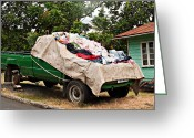 St. Lucia Photographs Greeting Cards - Vehicular Clothes Rack Greeting Card by Bill Mortley