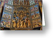 Polyptych Greeting Cards - Veit Stoss Polyptych Altar Greeting Card by Dorota Nowak