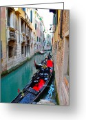 Venetian Architecture Greeting Cards - Venetian Canal Greeting Card by Dorota Nowak