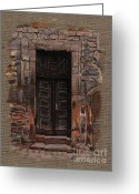 Elena Yakubovich Painting Greeting Cards - Venetian Door 02 Elena Yakubovich Greeting Card by Elena Yakubovich