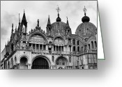 Basilica San Marco Greeting Cards - Venice - 10 Greeting Card by Ely Arsha