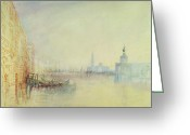 Romanticist Greeting Cards - Venice - The Mouth of the Grand Canal Greeting Card by Joseph Mallord William Turner