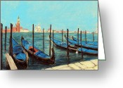 Venezia Pastels Greeting Cards - Venice Greeting Card by Anastasiya Malakhova