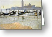 Flooded Greeting Cards - Venice at Dawn Greeting Card by Timothy Easton