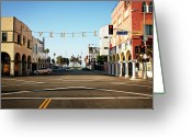 Marking Photo Greeting Cards - Venice Beach Sign Greeting Card by Cavan Images