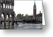 Quay Greeting Cards - Venice Greeting Card by Bernard Jaubert