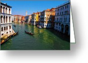 Gondola Digital Art Greeting Cards - Venice Greeting Card by Bill Cannon