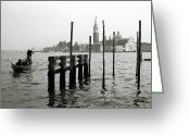 Veneto Greeting Cards - Venice Canal Grande II Greeting Card by Nina Papiorek