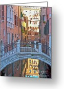 Traffic Greeting Cards - Venice cross over Greeting Card by Heiko Koehrer-Wagner